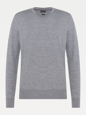 Tommy lUXURY WOOL V-NECK JUMPER