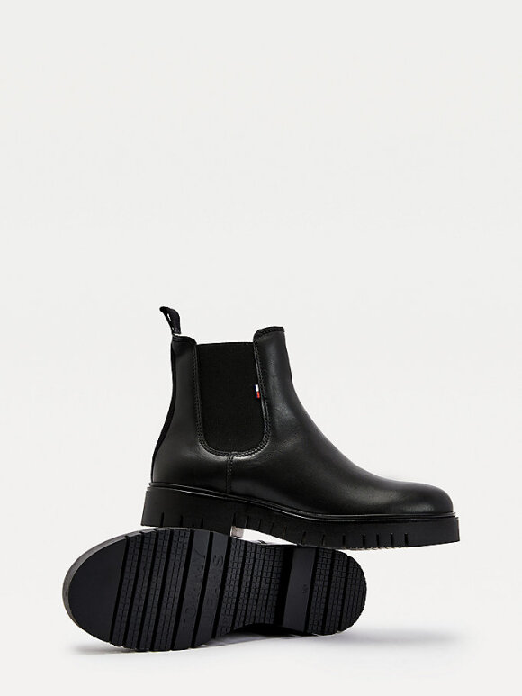 Tommy Hilfiger - Tommy WARM LINED LEATHER CHELSEA BOOTS