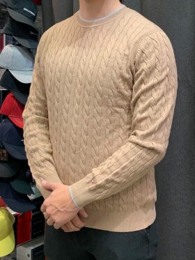 Tommy HILFIGER cable Crew neck