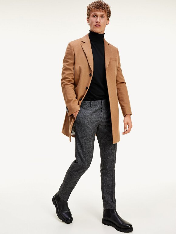 Tommy Hilfiger - TOMMY VIRGIN WOOL SINGLE BREASTED COAT