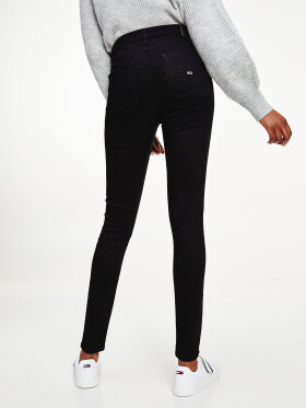 Tommy Hilfiger SYLVIA HIGH RISE SUPER SKINNY BLACK JEANS