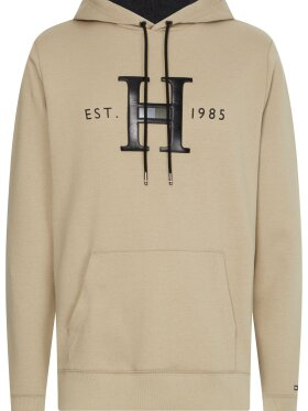 TOMMY ELEVATED APPLIQUÉ LOGO HOODY