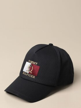 TOMMY CREST AND LOGO EMBROIDERY CAP