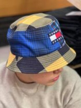 TOMMY hilfiger MIXED CHECK BUCKET HAT