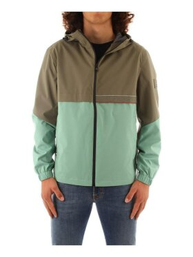 TOMMY  TH TECH COLOUR-BLOCKED HOODED JACKET