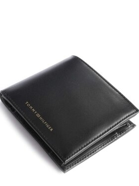 TOMMY CASUAL BLACK LEATHER WALLET