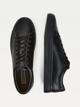 TOMMY MODERN SIGNATURE VULCANISED LEATHER TRAINERS