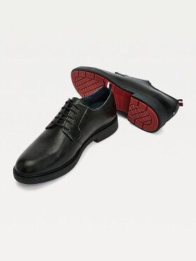 TOMMY ELEVATED SIGNATURE LOGO LACE-UP LEATHER SHOES