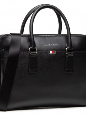 TOMMY Business Leather Slim Computer bag