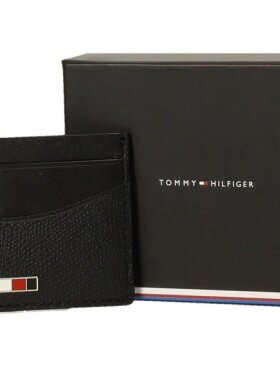 TOMMY BUSINESS SMALL LEATHER CARD HOLDER