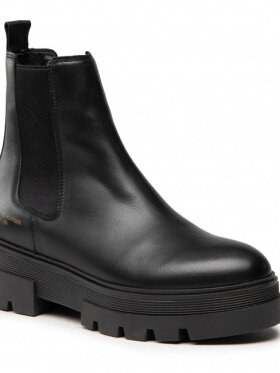 TOMMY CLEAT MONOCHROME LEATHER CHELSEA BOOTS