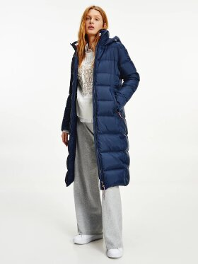 TOMMY WATER REPELLENT DOWN MAXI PUFFER COAT