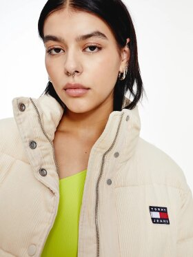 TOMMY CORDUROY PADDED PUFFER JACKET